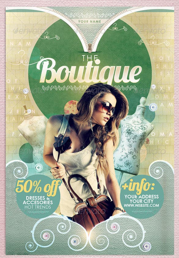 sample boutique fashon flyer template 6