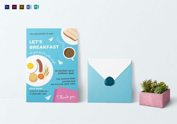 sample breakfast invitation template