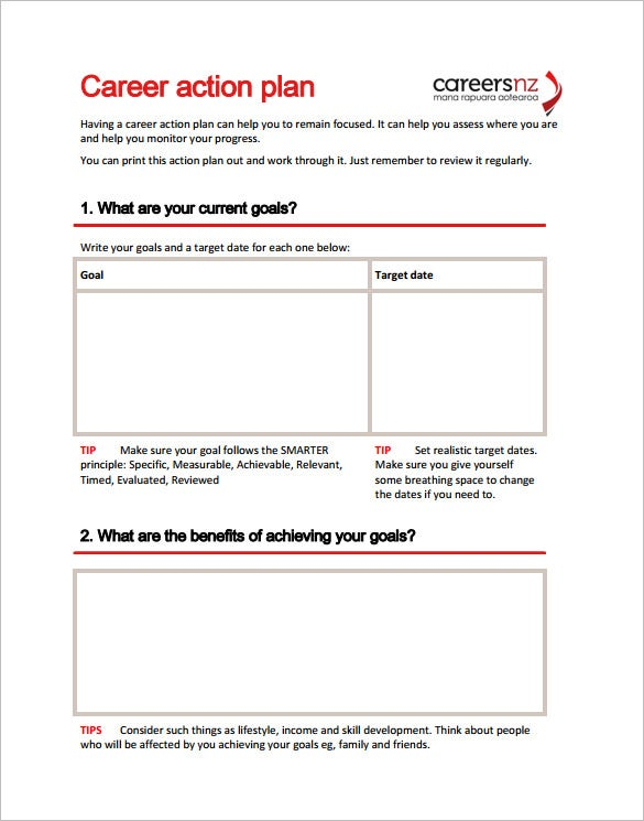Charming Sample Career Action Plan Template PDF Download Regard To Action Planning Templates