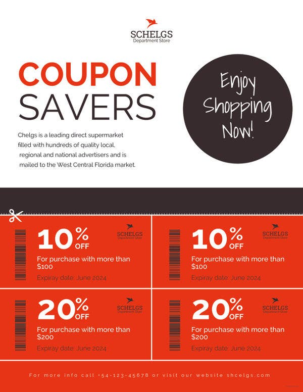 sample coupon flyer template