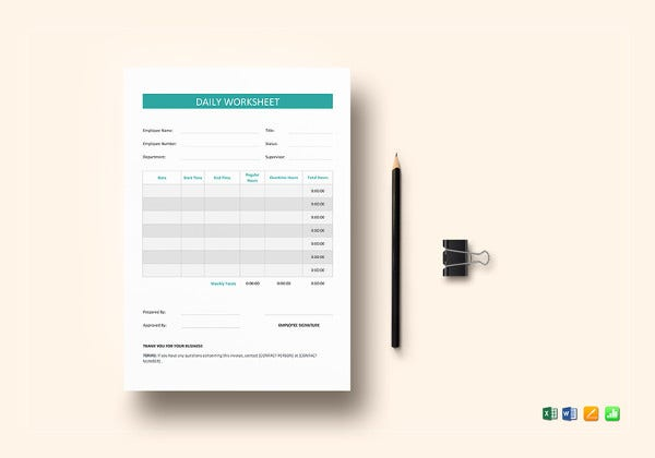 sample-daily-worksheet-template
