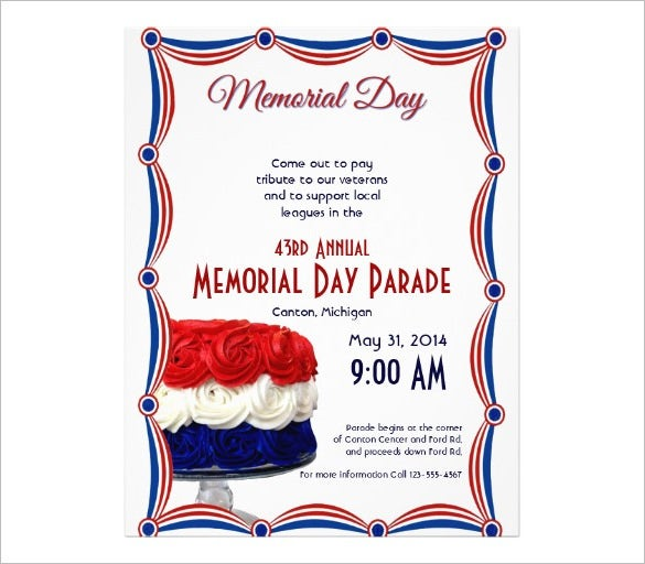 Memorial Flyer Template  CityEsporaCo