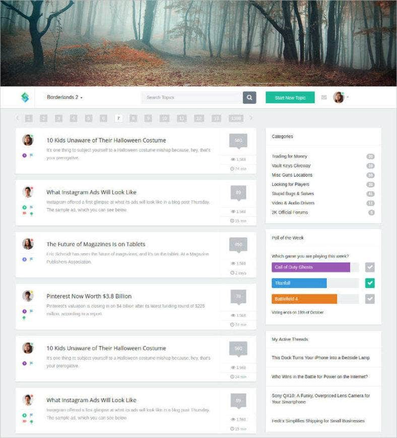 sample-forum-website-html-css-template