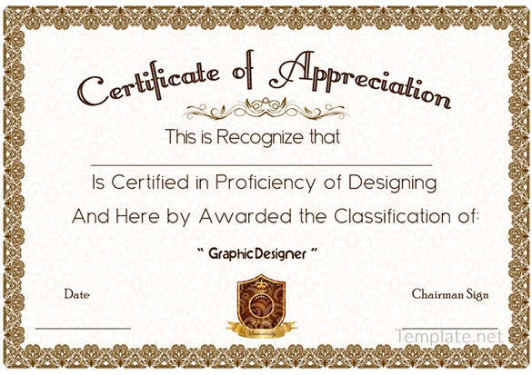 Free Certificate Template 65 Adobe Illustrator Documents – Certificate Samples