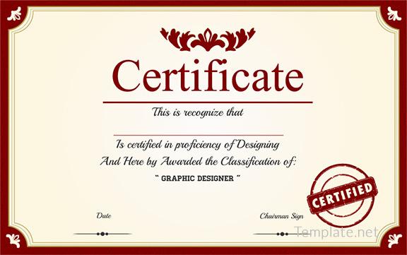 Free Certificate Template – 65+ Adobe Illustrator ...