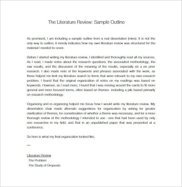 literature review template doc writing a literature review paper