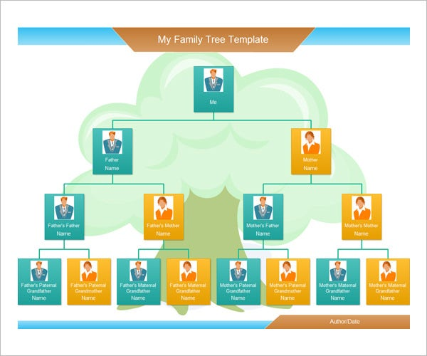 Photo family tree template 17 free word excel pdf for Picture of a family tree template