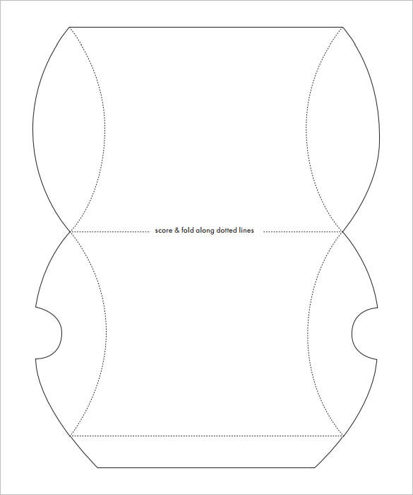 sample pillow box template