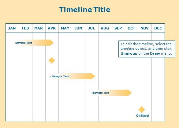 sample powerpoint timeline template free