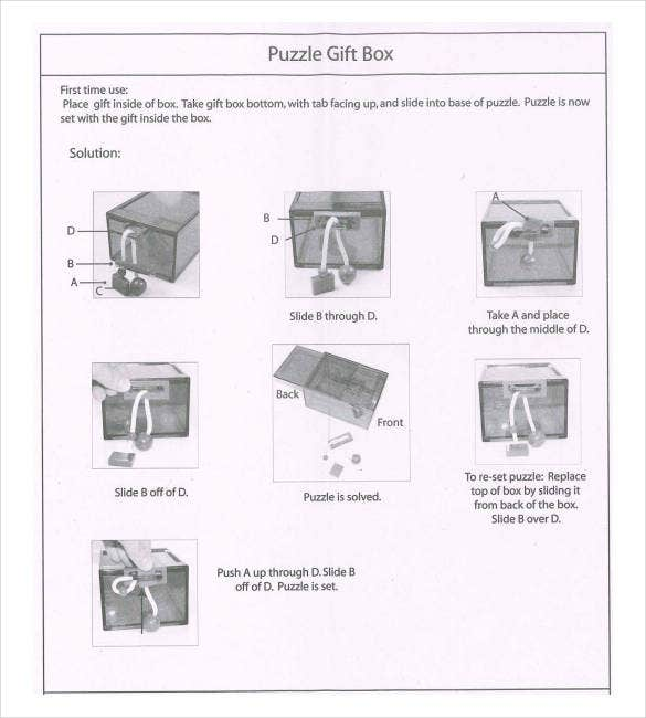 sample puzzle gift box templates free