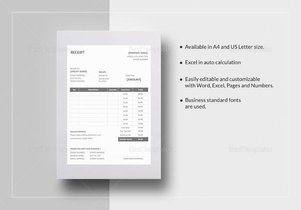 best buy receipt template - 17 business receipt templates doc excel pdf free