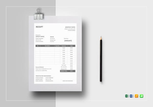 sample receipt template7