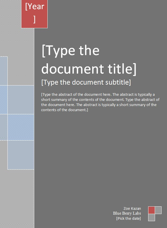 Report Cover Templates – 5 Free Word Documents Download | Free ...