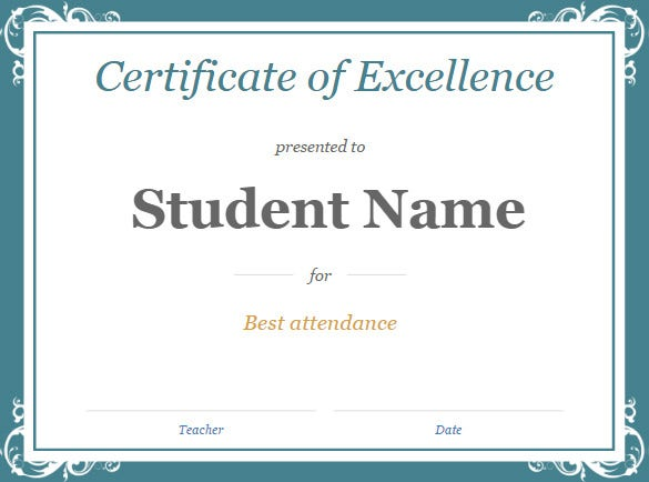 Student certificate template word certificate template 31 free download samples examples for Google award template