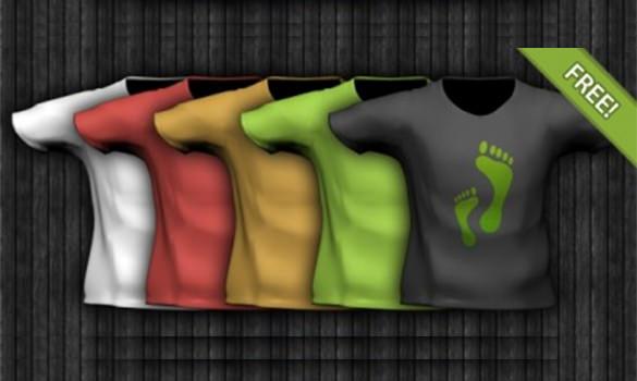 sample t shirt template psd