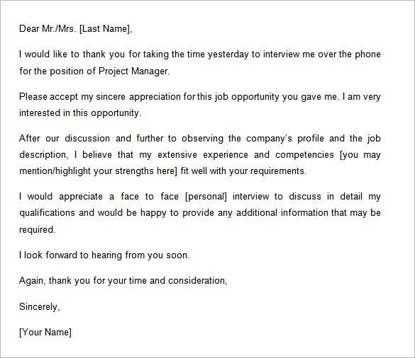 Follow Up Email After Phone Interview Template  Ninja