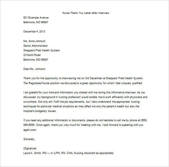 professional thank you letter after interview   Physic