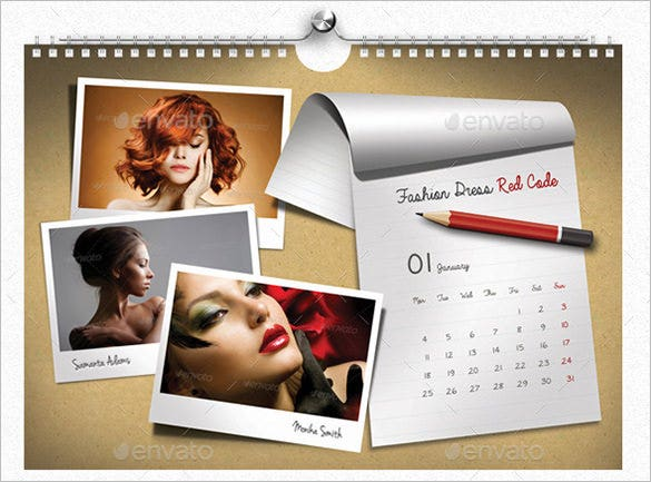 Corporate Wall Calendar Design Sample : Psd calendar templates designs free premium
