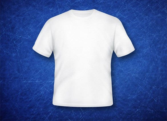 sample white t shirt template psd