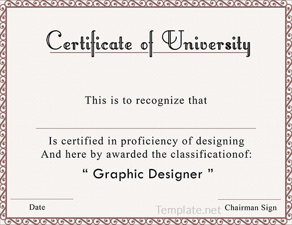 Free Certificate Template 65 Adobe Illustrator Documents – Sample Certificate of Participation