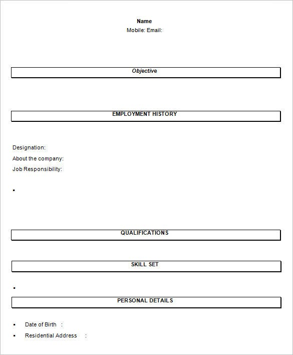 Sample Resume Format For Fresh Graduates One Page Format 2. Resume