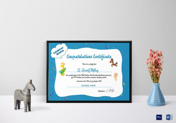 school chatter books congratulations certificate template