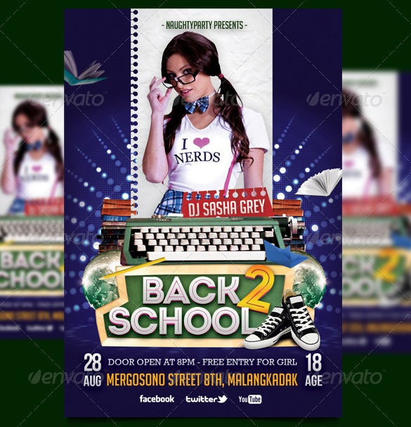 school club flyer templates free