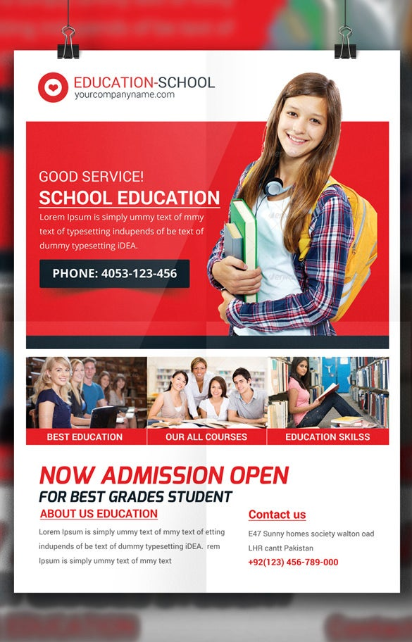 school education flyer template premium design