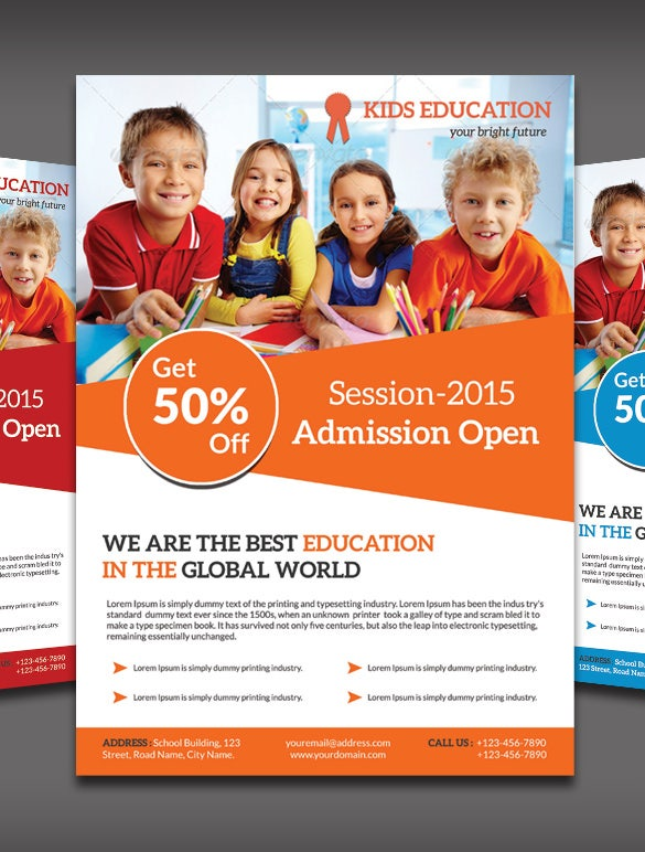 Best Academic Flyer Templates Designs Free Premium Templates - Word templates for brochures