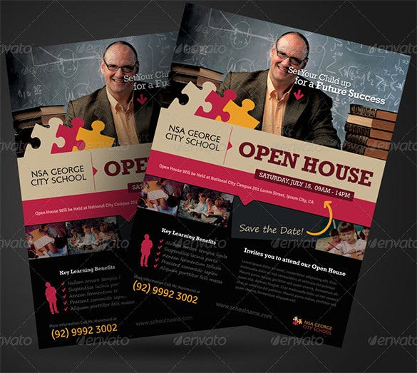 school flyer templates psd