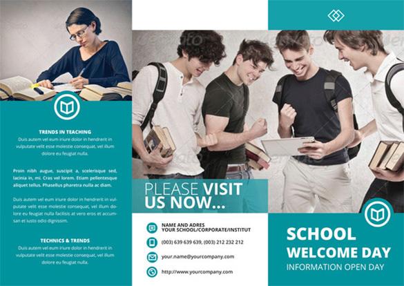 school indesign brochure template