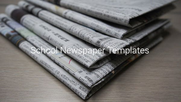 school newspaper template