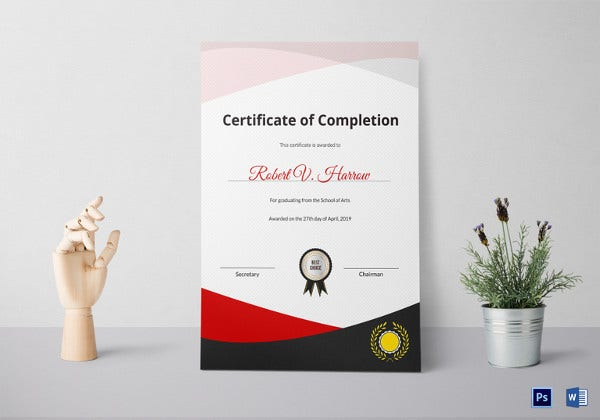 school of arts graduation certificate template