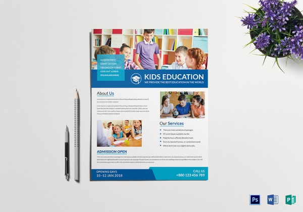 whether it is for home tuition pamphlets or coaching center flyer pamphlets there is nothing better than kids tutoring flyer template which can make the