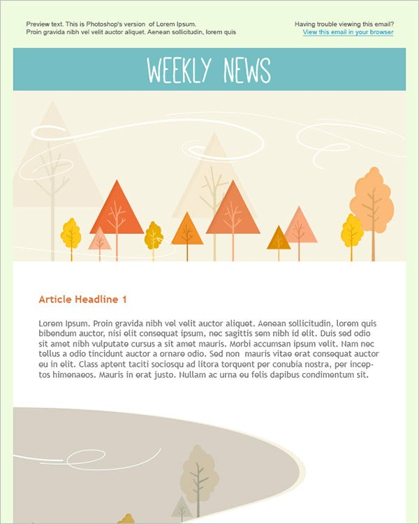 seasonal newsletter email template