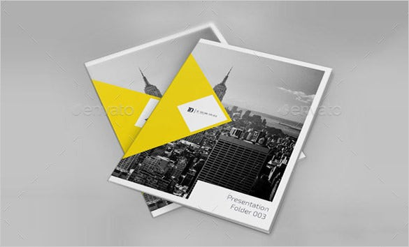 self locking psd presentation folder template download