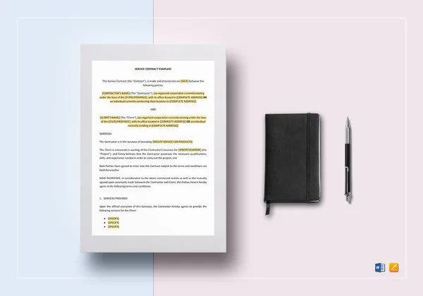 service contract template8