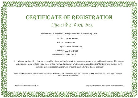 Printable Certificate Template 46 Adobe Illustrator Documents – Official Certificate Template