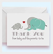 set of 10 elephant baby shower