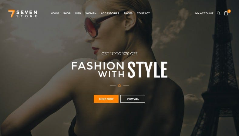 seven store ecommerce psd template 788x450
