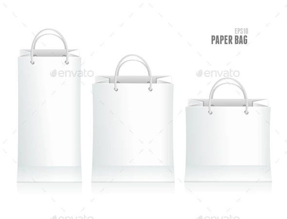 shopping paper bag template