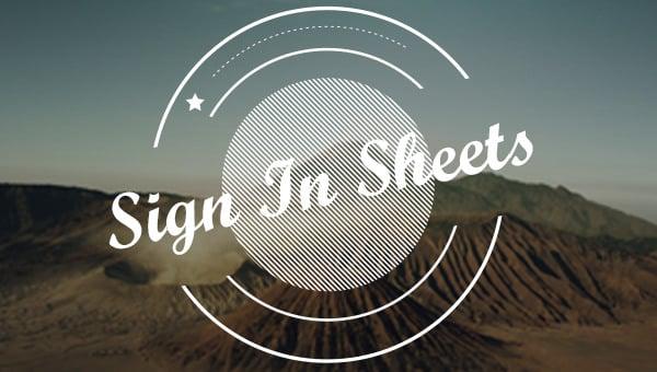 signinsheets