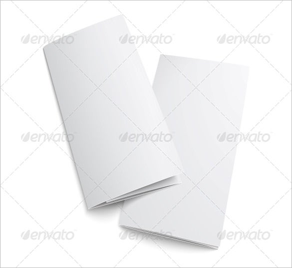 simple blank brochure template 5