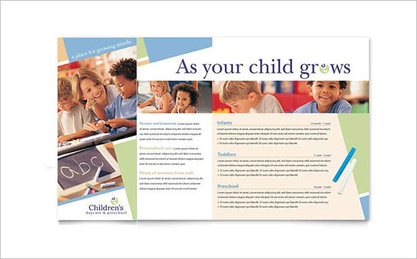 simple child care brochure template