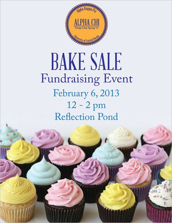 simple cute bake sale flyer template