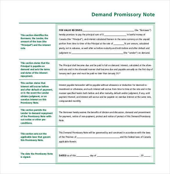 simple demand promissory note free download1