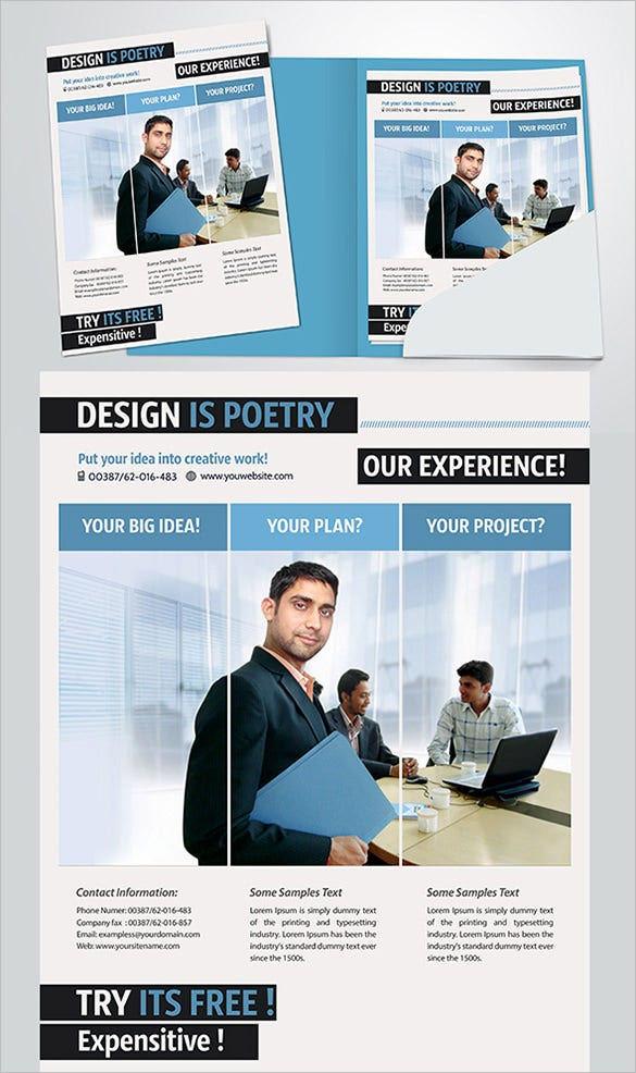 simple free business flyer template