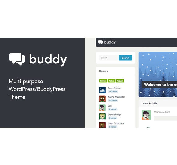 simple gaming wordpress buddypress theme