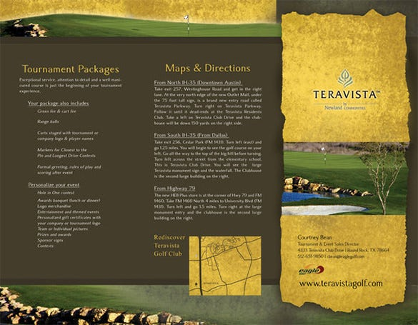 simple golf course brochure template