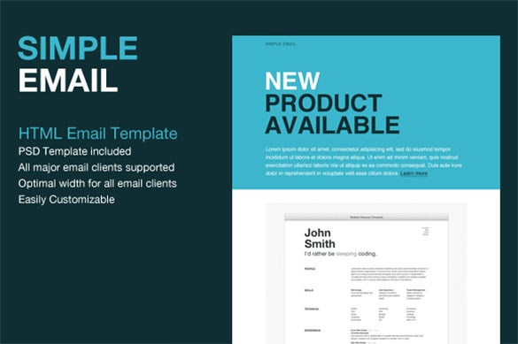 simple html email template 21